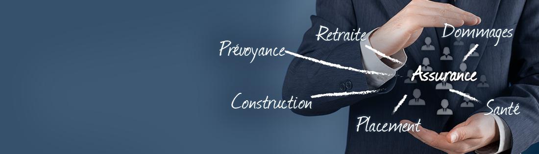 Assurance particuliers et professionnels, santé, prévoyance, dommages, retraite